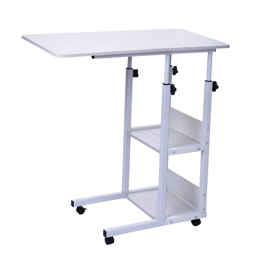CreazyBee Simple Folding Lazy Bedside Laptop Table Simple Desktop Home Mobile Small Table (B) by CreazyBee