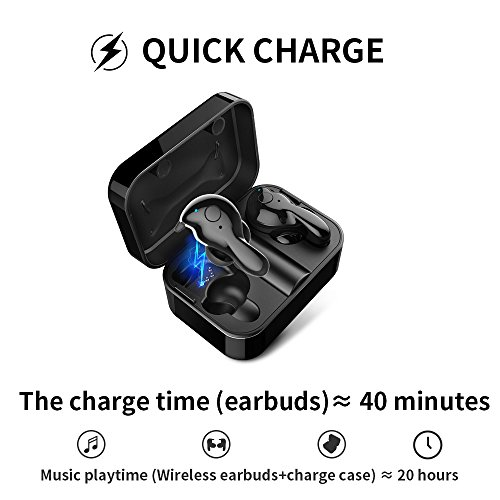 Wireless Earbuds, AMINY U-winner bluetooth 5.0 True Wireless Bluetooth Earbuds with Charging Case 20H Play time 3D Stereo Sound Wireless Headphones for iPhone Samsung Android, Built-in Microphone … by Aminy (Image #3)