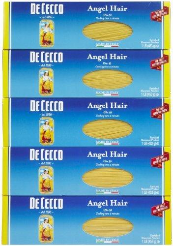Amazon Com De Cecco Angel Hair Pasta 16 Oz Boxes 5 Pk By De