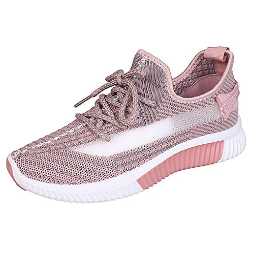 NYGSTORE Running Shoes for Women Under 20 Dollars,Women's Leisure Breathable Mesh Outdoor Fitness Running Sport Sneakers Shoes Pink]()