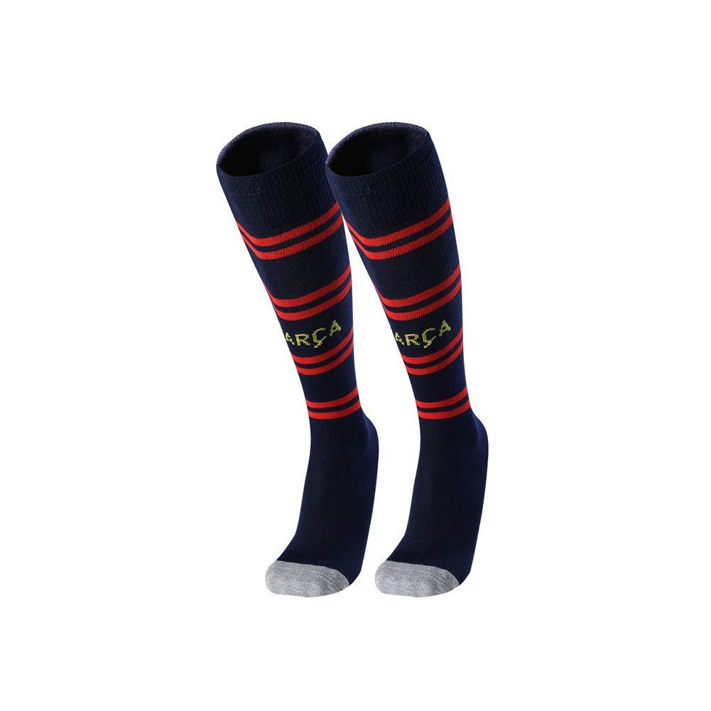 Unisex Soccer Athletic High Tube Socks Baseball Football Basketball Sport Athletic Socks Black (Barcelona) Chinashow
