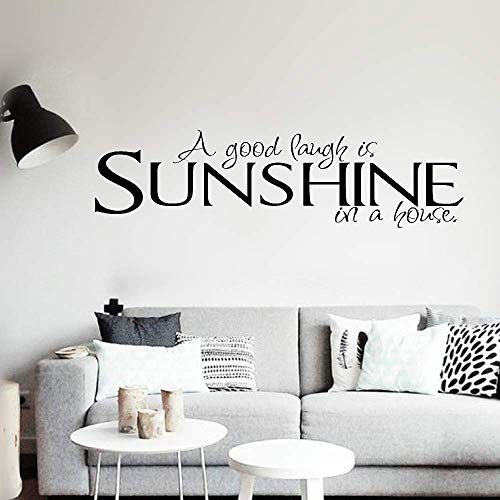 Oumoane Peel and Stick Removable Wall Stickers A Good Laugh is Sunshine in A ()