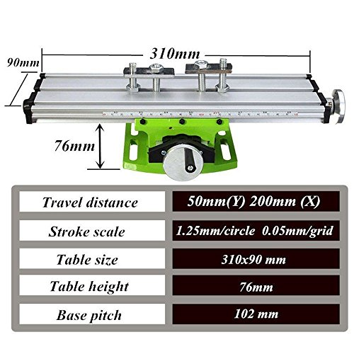 Multifunction Worktable Milling Working Table Milling Machine Compound Drilling Slide Table For Bench Drill (6300 SIZE) by Carmyra (Image #4)