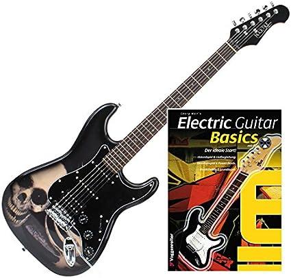 Rocktile Pro ST60 de SK – Guitarra eléctrica Skull + guitarras de ...