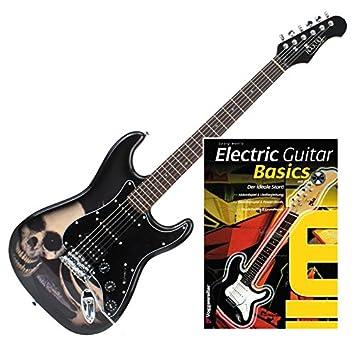 Rocktile Pro ST60 de SK - Guitarra eléctrica Skull + guitarras de Escuela: Amazon.es: Instrumentos musicales