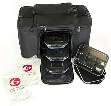Six Pack Fitness - Bolsa de deporte, color negro: Amazon.es: Equipaje