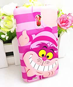 3D Cheshire Cat Shy Cute Lovely Pink Prison Break Hard Case Cover For Samsung Galaxy S2 Epic 4G Touch D710 (Not For Other S 2 Model)