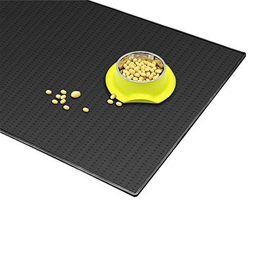 sanzang Futternapf-Matte Silikon Lebensmittel Tisch-Sets für Hunde wasserdicht not-slip Abendessen Napfunterlage für Katzen