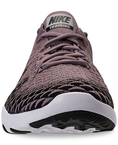 Nike Womens Free Tr Flyknit 2 Bionic Joggesko Str Oss 8,5 M Taupe Grå / Sort / Krom