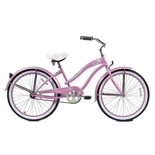 Micargi Rover Beach Cruiser Bike, Pink, 24-Inch