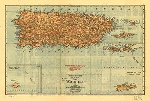 ly 14 x 21 inch of Porto Rico|Puerto Rico|Railroads (Puerto Rico Railroad)