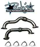 Heavy Duty Polished Up Pipes No EGR For 2008-2010 Ford 6.4L Powerstroke Diesel