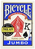 Bicycle Poker Size Jumbo Index Playing Cards (Blue or Red)