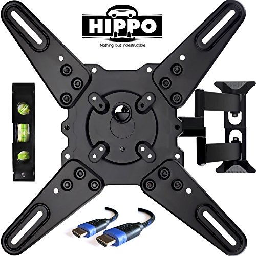 HIPPO TV Wall Mount Bracket With Full Motion Swing Out Tilt for Most 32
