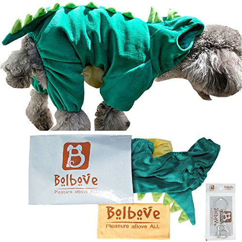 Pet Dinosaur Costume with Hood for Small Dogs & Cats Outfit Winter Coat Warm Jacket (X-Small)
