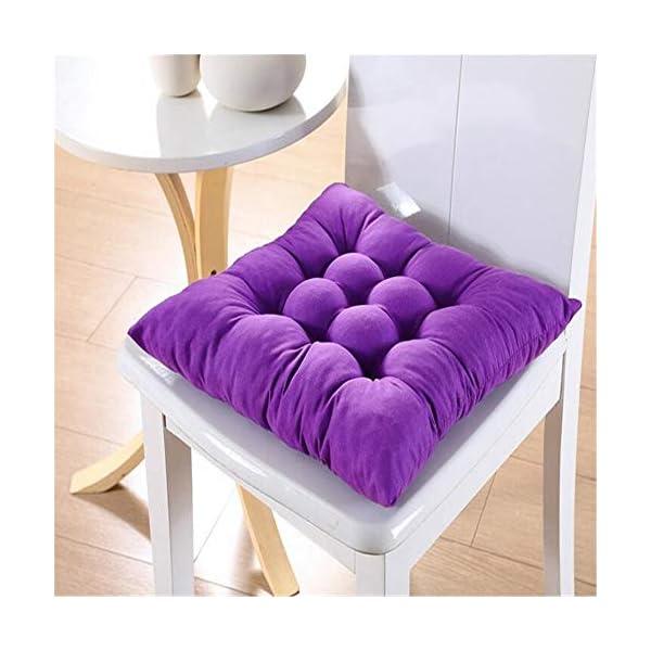 AGDLLYD Cuscini di Seduta Cuscino Sedia 40x40x5cm per Interno ed Esterno - Molti Colori - Imbottitura Spessa Cuscino… 6 spesavip