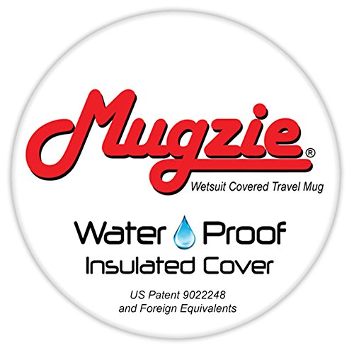 Mugzie brand 16-Ounce Travel Mug with Insulated Wetsuit Cover Green Butterfly