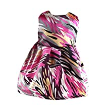 Fashion Colorful Sleeveless Party Gown Dress for 18 Inch American Girl Our Generation Journey Dolls