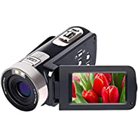 Camcorder Video Camera Full HD 1080p 24.0 MP Digital Camera Camcorders 16X Digital Zoom 270 Degree Rotation For Selfie Pause Function