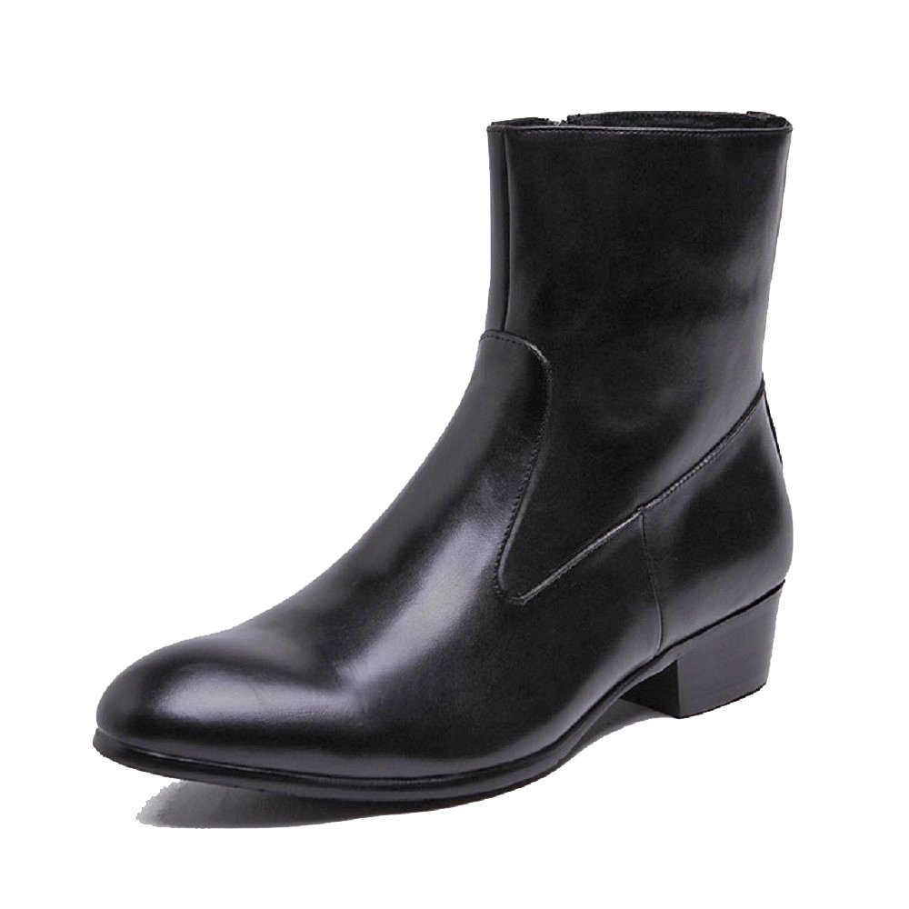 2 Color US Size 5-12 Leather Comfort Genuine Leather 5-12 Mens Formal Zip Ankle Boots Shoes B07411T9NB Western e55397
