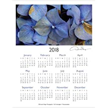 2018 Flower One Page Fine Art Wall Calendar. Fall Hydrangeas. 11x14 For Framing. Best Quality Birthday, Christmas, Mother's Day & Valentines Gifts for Women, Men & Kids. Unique Idea for Him or Her.