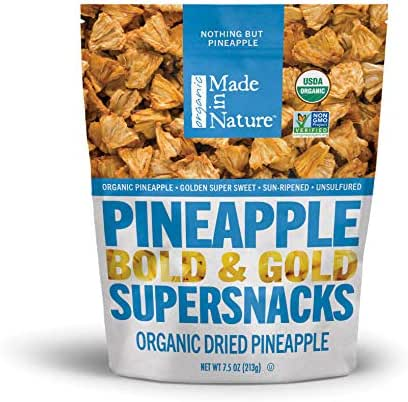 Dried Fruit & Raisins: Made in Nature Pineapple