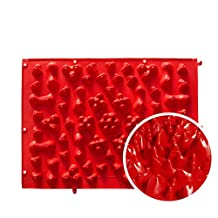 Foot Massager Fingerboard Massage Pad Durable Walking Mat Blood Circulation Root Funny Tricky Toy Screaming Artifact, 30*40Cm, 4 Pieces,Red
