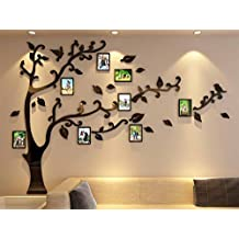 3d Picture Frames Tree Wall Murals for Living Room Bedroom Sofa Backdrop Tv Wall Background, Originality Stickers Gift, Removable Wall Decor Decal Sticker (70(H) x 98(W) inches)