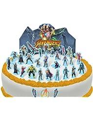 Cakeshop PRE-CUT Avengers Infinity War Edible Cake Scene - 37 pieces