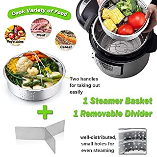 Instant Pot Accessories, P&P CHEF 12 Pcs Pressure Cooker Accessories Set For 6/8 Qt - Steamer Basket, Cake Pan, Egg Rack, Egg Bites Mold with Lid, Kitchen Tong, Oven Mitts, Magnetic Cheat Sheets