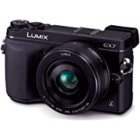 Panasonic Mirrorless Interchangeable lens Digital Camera Lumix GX7 16.0 MP with 20mm f/1.7 lens Kit DMC-GX7C-K Black - International version, No Warranty