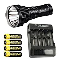 Bundle: Acebeam K70 Flashlight XHP35 HI LED -2600Lm w/Xtar VP4 Charger & 4x NL183 2300mAh Batteries