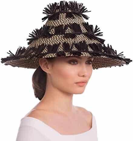 Eric Javits Luxury Fashion Designer Women s Headwear Hat - Tiki Lantern Hat  - Black Mix da8c191df91d