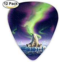 Cute Bear Guitar Picks 12pack Celluloid Plectrum Custom 0.46mm/0.71mm/0.96mm For Electric Acoustic Guitars Bass Best Stocking Stuffer Gifts For Kids Teens Adults