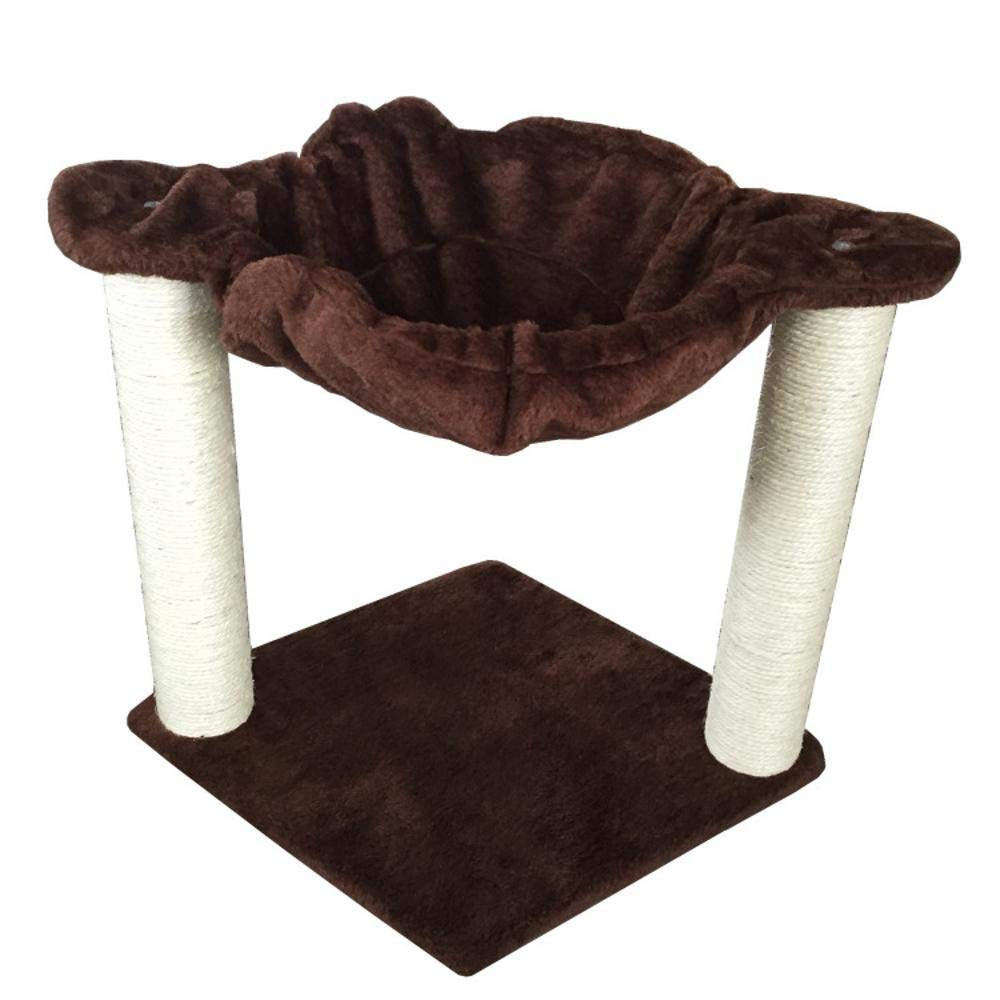 TOUYOUIOPNG Deluxe Multi Level Cat Tree Creative Play Towers Trees for Cats Pet cat Toy Furniture Grab Board ladder grab pillar Cat wo bed House plate hemp Flannel 50  40  40cm