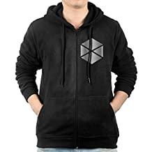 Men Destiny Titan Platinum Logo Hoodie Sweatshirt Black