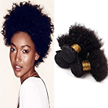 "Veravicky Unprocessed Virgin Afro Kinky Curly Hair Extensions for Black Women Natural Color (8"" 8"" 8"")"