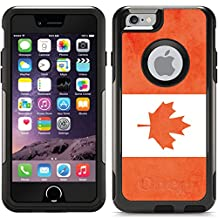 Vintage Flag Of Canada design on Black OtterBox Commuter Series Case for iPhone 6 and iPhone 6s