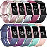 ATUP Bands Compatible with Fitbit Charge 3 Bands, Classic Sport Accessory Replacement Watch Strap Wristband for Fitbit Charge 3 Special Edition and Fitbit Charge 3 Women Men Large & Small