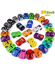 Jionchery Pull Back Cars, 32 Pack Pull Back Racing Vehicles Mini Car Toys for Kids