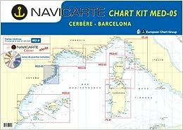 Kombipack Chart Kit MED 5 - Spanien - Katalonien, Barcelona bis Cerbère