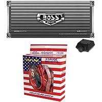 Boss AR4000D 4000W Mono D Car Audio Amplifier w/Remote + 4 Gauge Amp Install Kit