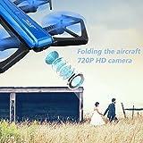 Hanbaili JJRC H43WH Foldable Drone, Foldable 2.4GHz Wireless 720P 1.0MP Camera Video FPV Quadcopter Drone