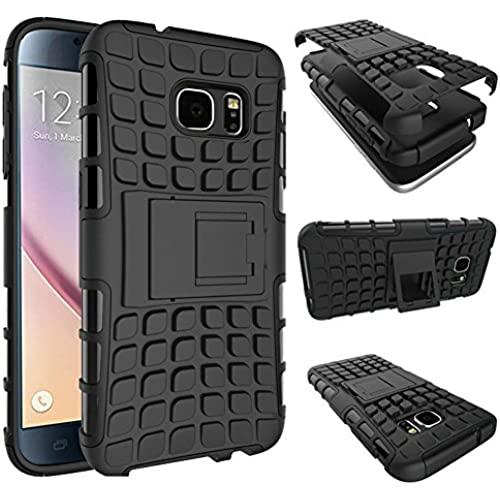 Galaxy S7 Edge Case, JOBSS [HEAVY DUTY] Shock Absorbing Hybrid Impact Rugged Defender Tough Armorbox Hard Kickstand Bumper Case Cover Shell For Sales