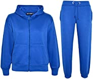 A2Z 4 Kids Kids Girls Boys Plain Tracksuit Hooded Hoodie Bottom Joggers 2-13