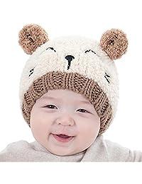 Baby hats, Perman Baby Boys Girls Winter Warm Wool Knitting Hat Pompom Cap Beanies