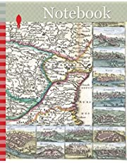 Notebook: 1710, De La Feuille Map of Transylvania and Moldova