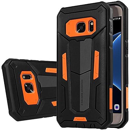 Galaxy S7 Edge Case, JUN-Q [Heavy Duty] [Shock-Absorption] [Kickstand Feature] Hybrid Dual Layer Armor Defender Sales