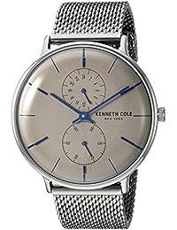 Men's Quartz Stainless Steel Casual Watch, Color Silver-Toned (Model: KC15188002)