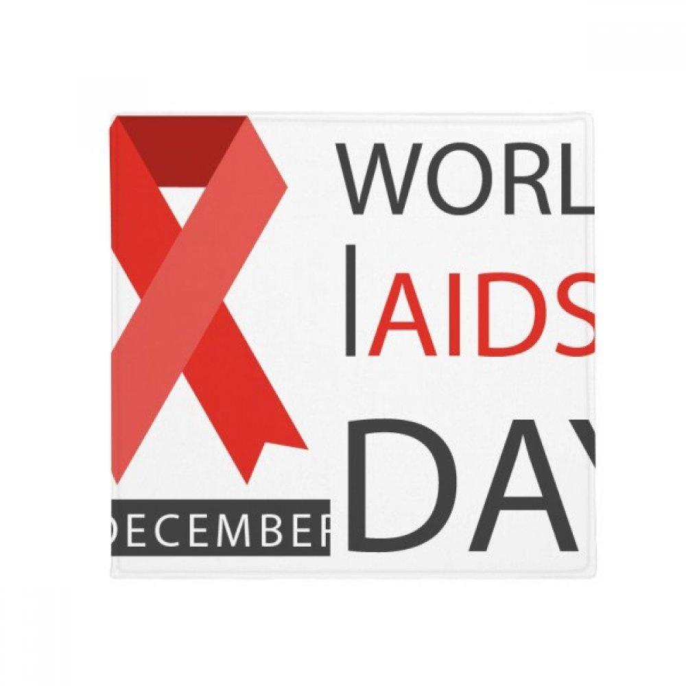 DIYthinker HIV 1St December World Aids Day Red Ribbon Anti-Slip Floor Pet Mat Square Home Kitchen Door 80Cm Gift